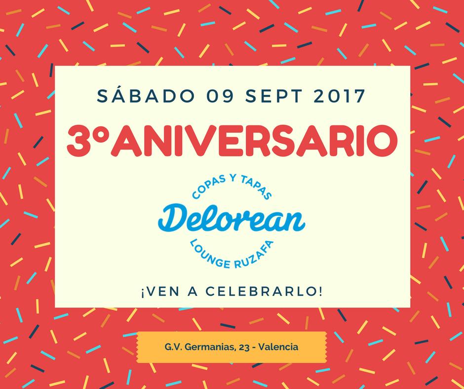 Fiesta 3º Aniversario Delorean